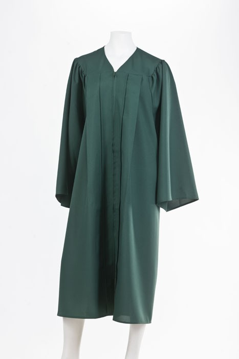 Graduation Gown - Forest Green