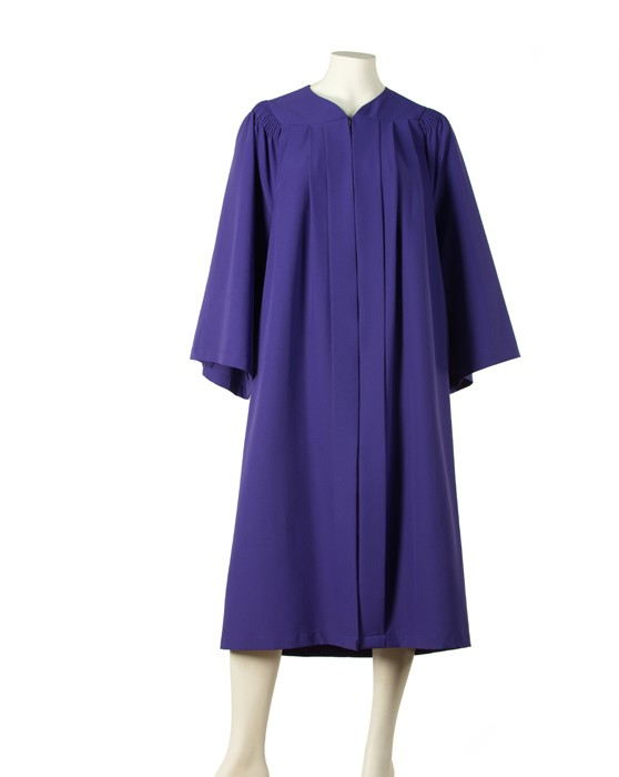 gown with fluting (Purple)