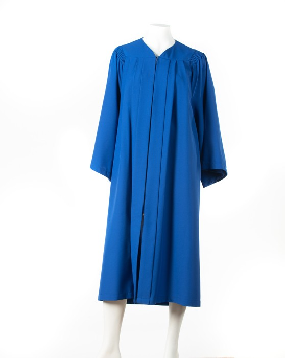 Graduation gown with fluting (Royal Blue)