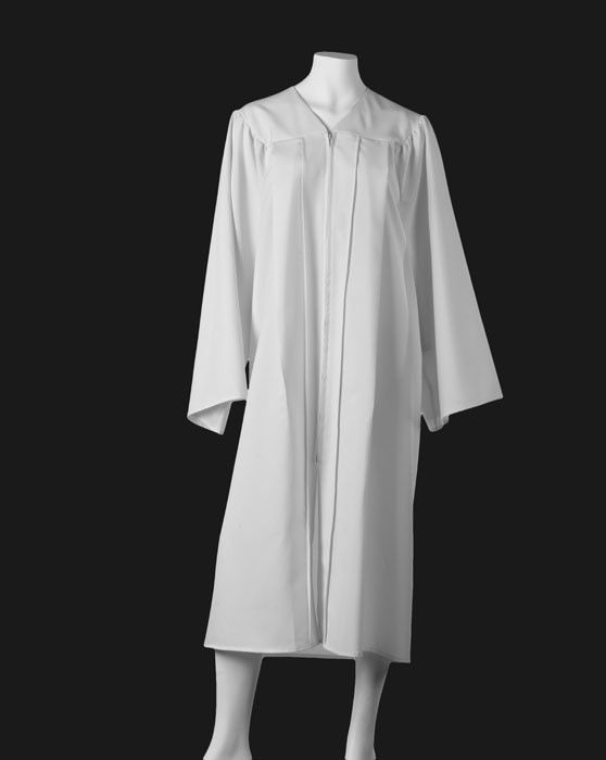 Graduation Gown - White