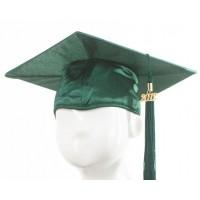 Graduation Cap - Forest Green
