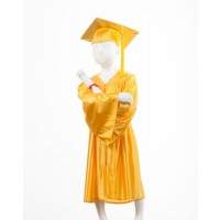 Child's Gold Graduation Gown and Cap Souvenir Set
