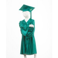 Child's Emerald Green Graduation Gown and Cap Souvenir Set