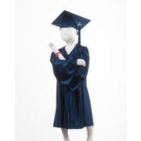 Child's Navy Graduation Gown and Cap Souvenir Set