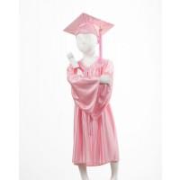 Child's Rose Graduation Gown and Cap Souvenir Set