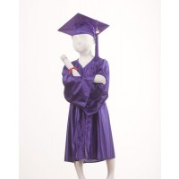 Child's Purple Graduation Gown and Cap Souvenir Set