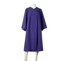 Graduation gown with fluting (Purple)