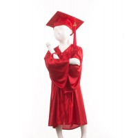 Child's Red Graduation Gown and Cap Souvenir Set