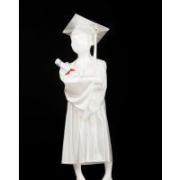 Child's White Graduation Gown and Cap Souvenir Set
