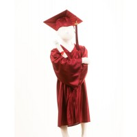 Child's Maroon Graduation Gown and Cap Souvenir Set